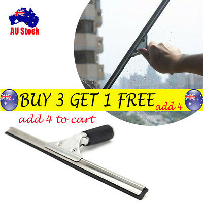 AU Professional Glass Window Soap Wiper Cleaning Squeegee Blade Clean Tools TH