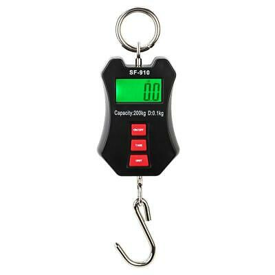 Mini Portable 300kg LCD Digital Weight Electronic Hook Hanging Crane Scale 660LB
