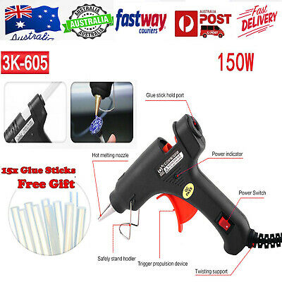 Electric Trigger Hot Melt Glue Gun With 15pcs Glue Sticks 11mm 150W AU Plug AU