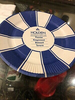 Holden Genuine Paper Plate & Serviette 1970's