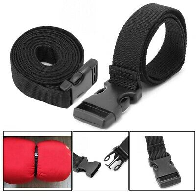 Black Durable Nylon Travel Tied Cargo Tie Down Luggage Belt Kits Camping Tool