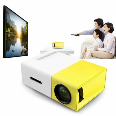 YG300 HD1080P LED Mini Projector Portable Home USB AV SD Theater Cinema Lot