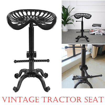 Vintage Tractor Seat/Bar Stool Rustic Cast Iron Industrial Style Adjustable