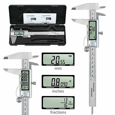 6 LCD Digital Vernier Caliper Stainless Steel Ranging 0-150mm Electronic Tool