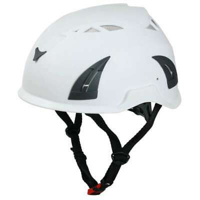 Unilite Safety Hard Hat Helmet With Chin Strap White