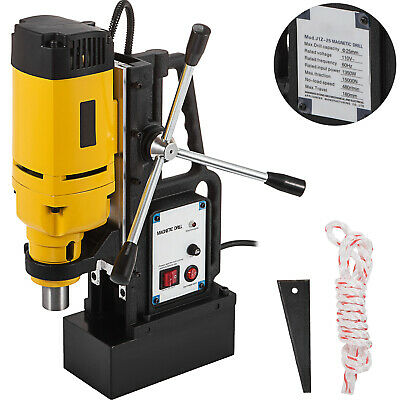 """1350W Magnetic Drill Press 1"""" Boring & 3372 LBS Magnet Force"""