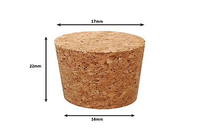 Tapered Natural Cork Stoppers Bungs Bottle Homebrew Beer Wine 14mm dia Bottom