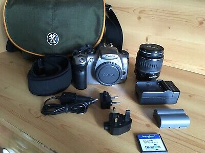 Canon EOS 300D Digital-SLR DSLR Camera with EFS 18-55mm Canon Lens And Bag