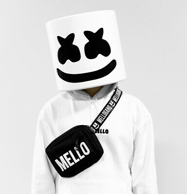 Mask Marshmallow Cosplay Halloween Full Helmet Headgear DJ Head Music MarshMello