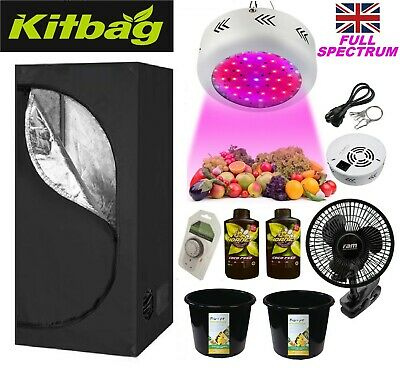LED Grow Light Tent Kit Complete set up Hydroponics Fan Filter Coco Pots ( UFO )