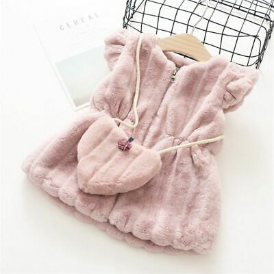 Kid Vest Fashion Outerwear Coat With Bag Cotton Solid Child 1pc Baby Girl Jacket