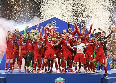 LIVERPOOL FC 2019 Champions league winners HIGH QUALITY A3 PHOTOGRAPH
