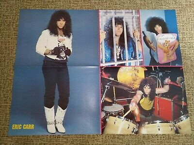 KISS DEF LEPPARD POSTER DOUBLE SIDED  A2 size, not used-like new