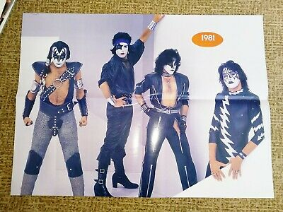 KISS POSTER DOUBLE SIDED  A2 size, not used-like new