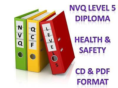 Health & Safety Diploma Level 5 NVQ Complete Portfolio Answers + Safety Library