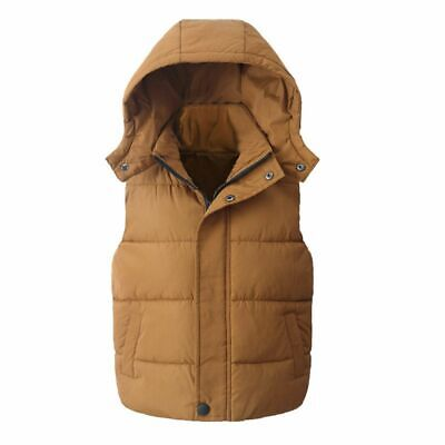 Baby Vest Child 1pc Kid Hooded Cotton Boy Girl Waistcoat Outerwear Canvas Casual