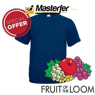 T Shirt Da Lavoro Fruit Of The Loom Maglietta Maniche Corte Uomo Donna