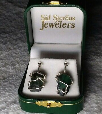 25.75 ct Pair of Natural Green Untreated Rough Colombian Emerald Earrings #M1