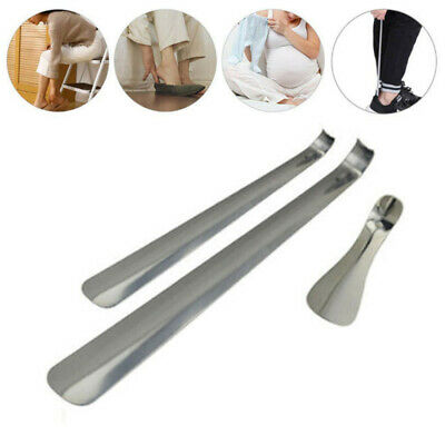 14.5-51cm Long Handled Metal Shoe Horn Lifter Stainless Steel with Hanging Hole