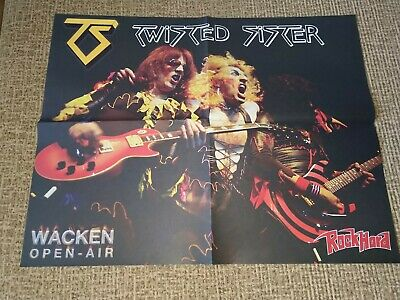 TWISTED SISTER POSTER   A2 size, not used-like new