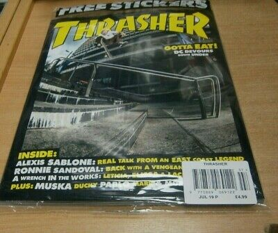 Thrasher magazine #468 JUL 2019 Sablone, Sandoval, Steamer + Stickers
