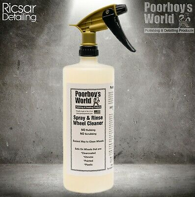 Poorboys World Spray and Rinse Wheel Cleaner 32 oz *OFFICIAL STOCKIST*