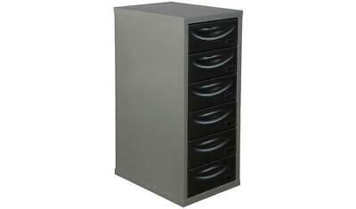 6 Drawer Filing Cabinet Silver Black for Home or Office Filer