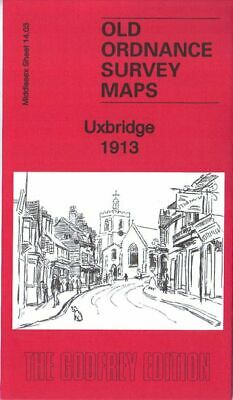 Old Ordnance Survey Map Uxbridge 1913 High Street The Greenway Cowley Road