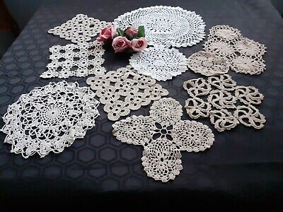 10 X Vintage Crochet Doilies.for Weddings/Crafts/Displays.