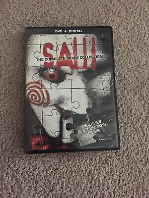 NEW - Saw: The Complete Movie Collection. Includes All 7 Unrated Movies.
