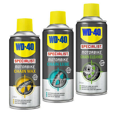 WD40 Specialist Motorbike Chain Lube Wax Cleaner Bike Wash Motorcycle Lubricant