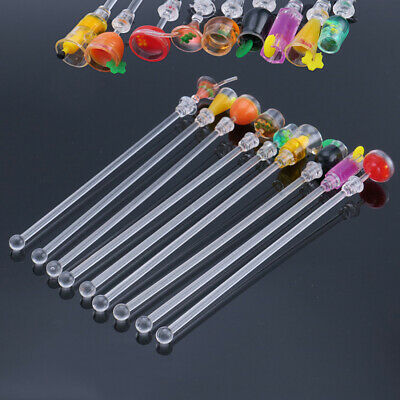 Pack Of 10 Acrylic Bar Tool Cocktail Drink Mixer Swizzle Stick 23cm Party Wine