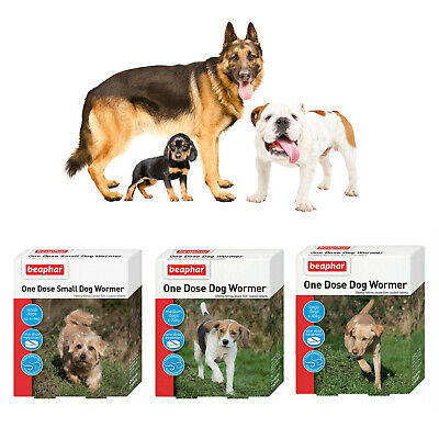 Beaphar One Dose Wormer Worming Roundworm Hookworm Tapeworm Dog Puppy Tablets