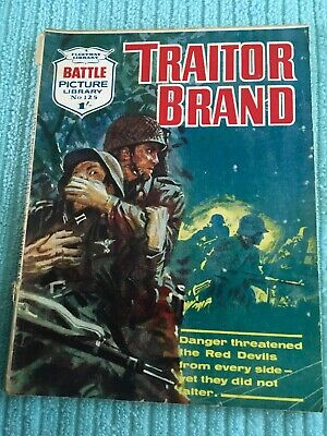 BATTLE PICTURE LIBRARY # 125 Traitor Brand - 1961