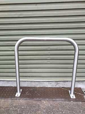 NEW SHEFFIELD STYLE BIKE STAND STAINLESS STEEL BICYCLE DUAL STORAGE Bolt On Fix