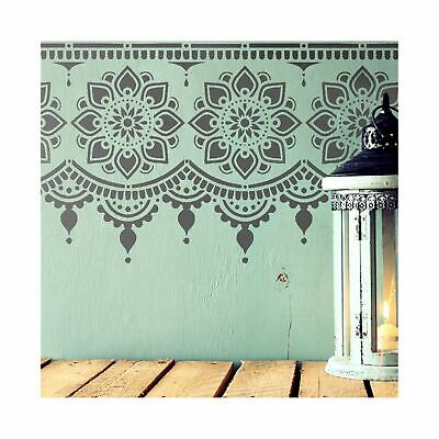 MYAH Border Indian Furniture Wall Stencil for Paint