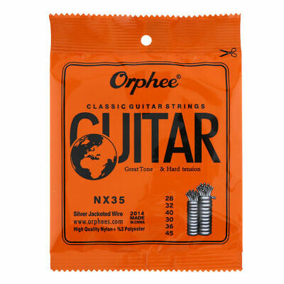 5 Sets Orphee NX35 Nylon Classical Guitar Strings Nylon Core Wire Hard Tension