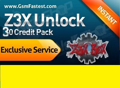 Z3X Server 30 Credits Pack New Pack / Refill Old Pack Fast Delivery Best Price