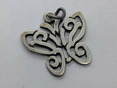 RETIRED James Avery Open Lace Butterfly Charm 0.61 Inch FREE SHIPPING