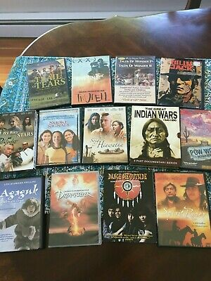 Collection of 13 Native American Movies DVD and VHS nice collection!! Some RARE