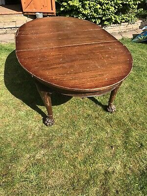 Dining Room Table Reproduction Antique Vintage oval mahogany removable centre