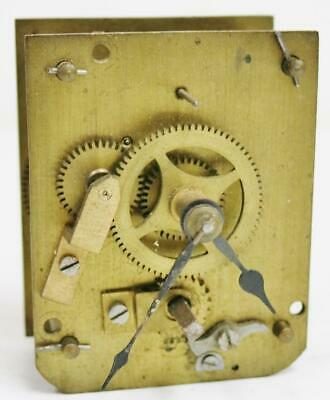 Antique English 8 Day Timepiece Mantel Clock Movement For Spares Or Repair