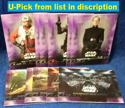 2019 Star Wars Rise Of Skywalker PURPLE Parallel You Pick & Choose Your lot