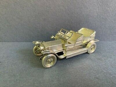 Antique  Miniature Sterling Silver 925 Articulated Car Model Rolls Royce.