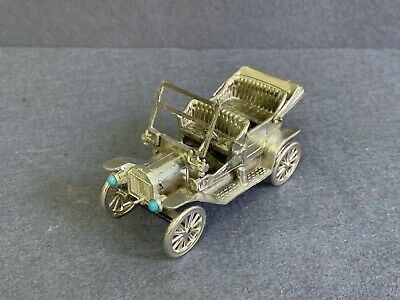 COLLECTIBLE VINTAGE ANTIQUE STERLING SILVER 925 ARTICULATED CAR MODEL Ford.165gr