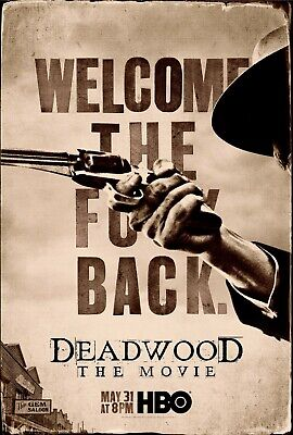 RARE POSTER: new DEADWOOD: THE MOVIE hbo 2019 REPRINT 12x18