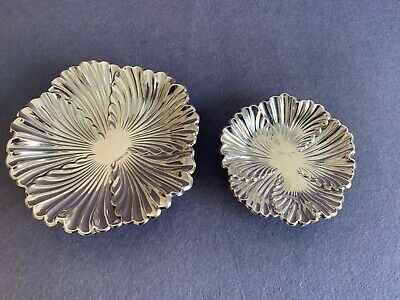 Pair  Beautiful Marked Spanish Sterling Silver 925 Centerpieces, Trays