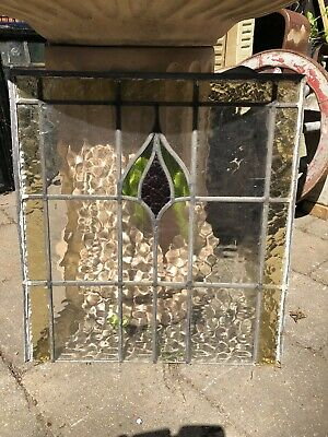 Stained Glass Window Pane - Vintage 1930's