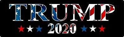 Donald Trump Bumper Sticker 2020 Keep America Great American flag Bumper sticker