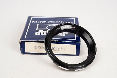 Reversing Ring adapter for Nikon to 52mm - Jessop made in Japan
